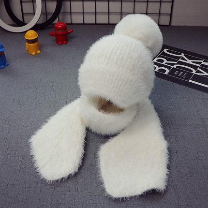 新款秋冬宝宝儿童帽子1男童毛线帽围巾2女童围脖5个月-3岁两件套