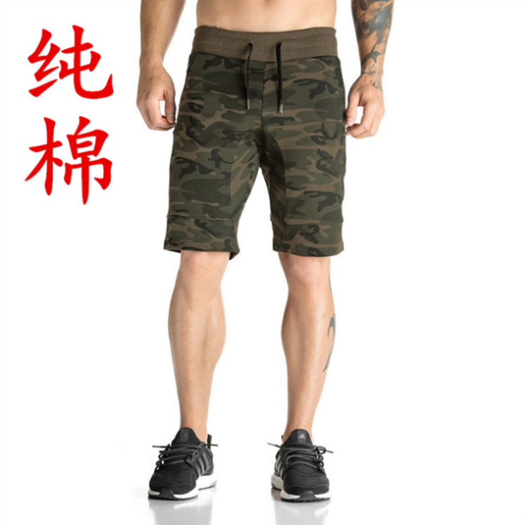 AE new fitness brother sports casual pants Muscle Mens Capris running training breathable shorts fitness