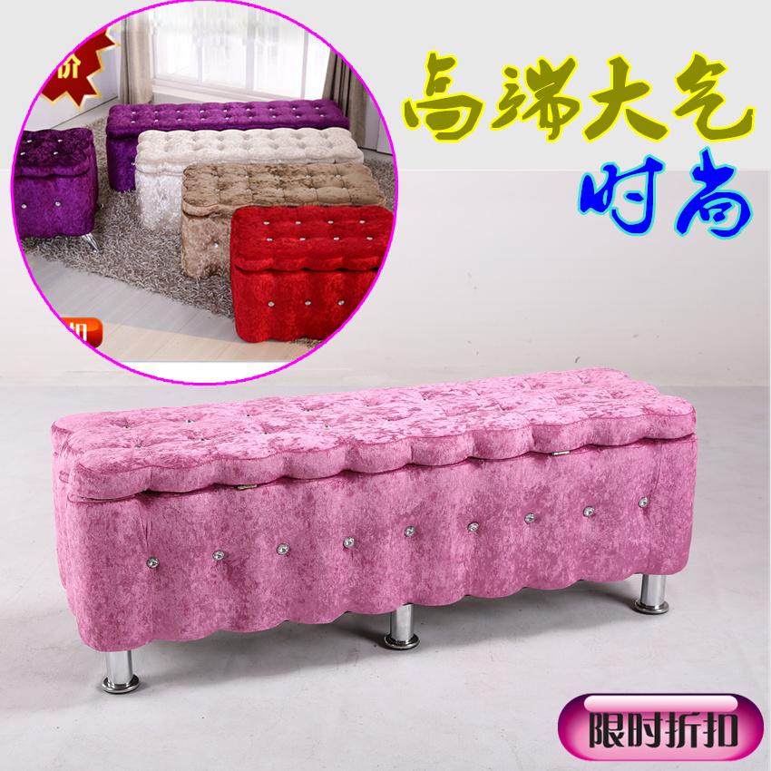 服装店铺试鞋凳 储物布艺鞋柜 实木高档沙发双人座椅加长现代坐凳