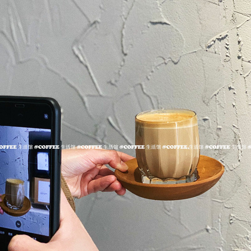 Ins Cafe vintage glass coffee cup latte drink cup affogato 235ml