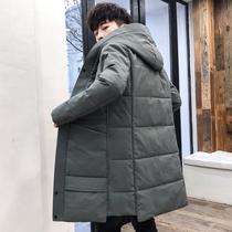 冬季棉衣男士中长款韩版2019新款外套羽绒棉服潮流帅气冬装棉袄子