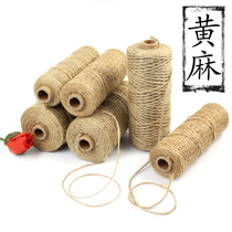 Rope Bundle Rope Yellow Hemp Rope Wrapping rope Portable rope diy rope personality Decoration Sturdy craft packaging