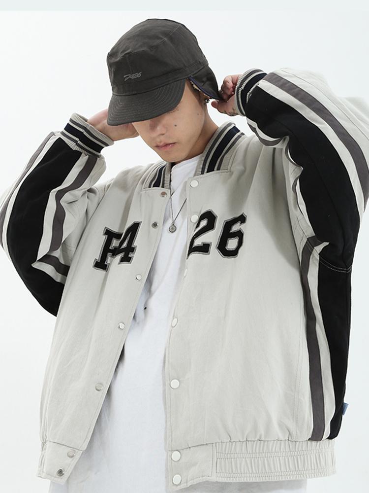 [F426] Tide brand lovers hip-hop thickened baseball uniform tooling plus velvet jacket loose casual jacket