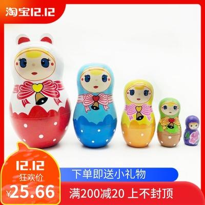 俄罗斯套娃儿童益智玩具大电影同款套娃大头儿子小头爸爸套娃包邮