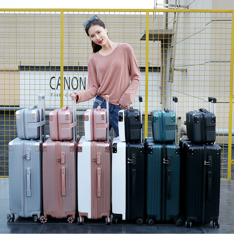 Suitcase, female lovely student, Korean version, little fresh man, 26 inch suitcase, 20 inch universal wheel, chassis, Trolley Case