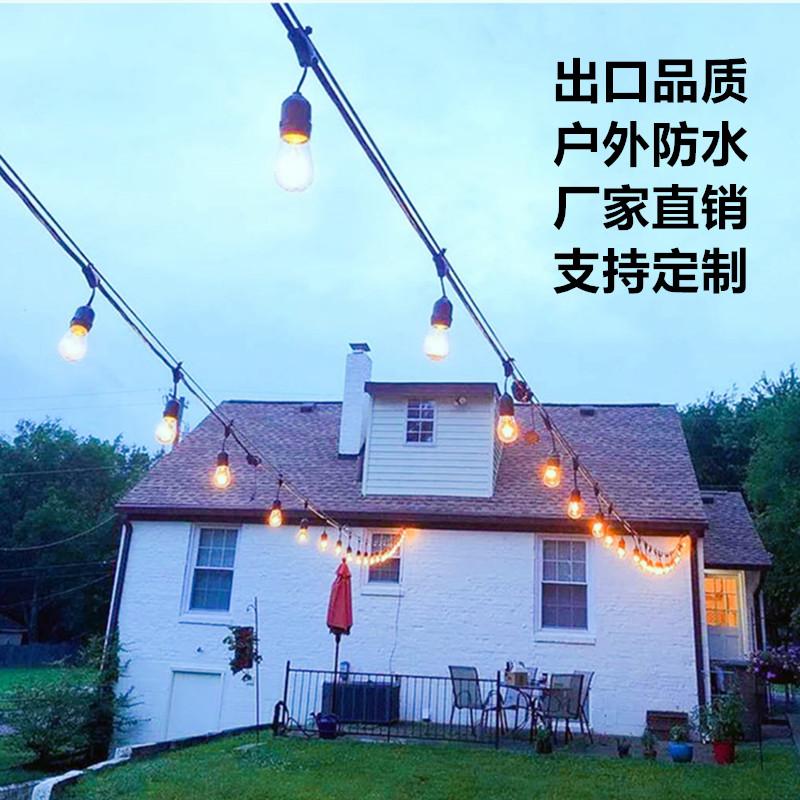 LED彩灯闪灯串灯满天星户外婚礼布置装饰灯 庭院节日创意防水灯串