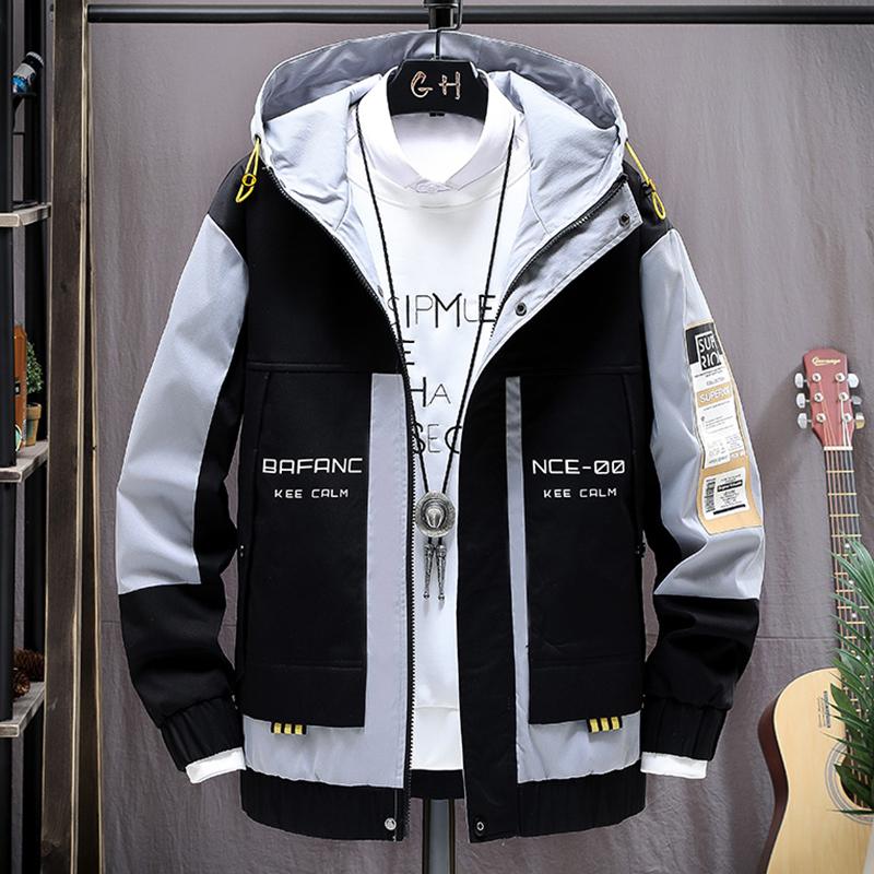 机能外套男士2020年春秋季新款潮牌夹克男装韩版潮流帅气工装衣服