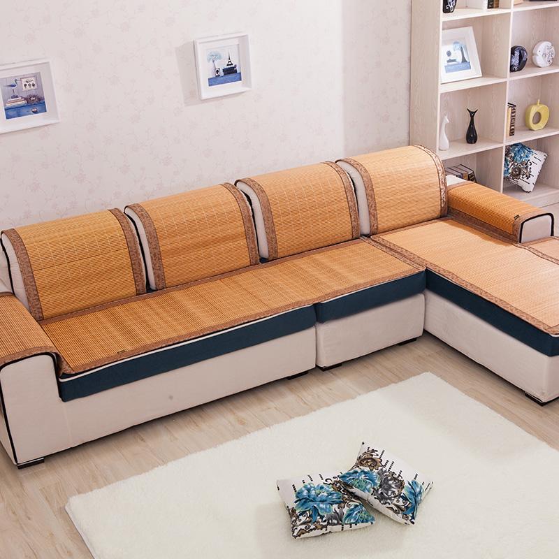 夏季涼墊夏天比麻將涼席好竹坐墊冰絲沙發墊辦公室座墊餐椅子墊