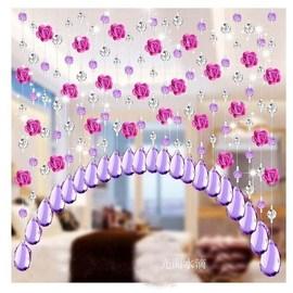 门对门珠帘厕所化解挂帘隔断布艺水晶帘珠子垂帘玄关客厅欧式玻璃