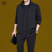 Middle-aged Sportswear Suit Spring and Autumn Middle-aged Men's Leisure Dad Sportswear Autumn Suit Three-piece Suit Autumn and Winter