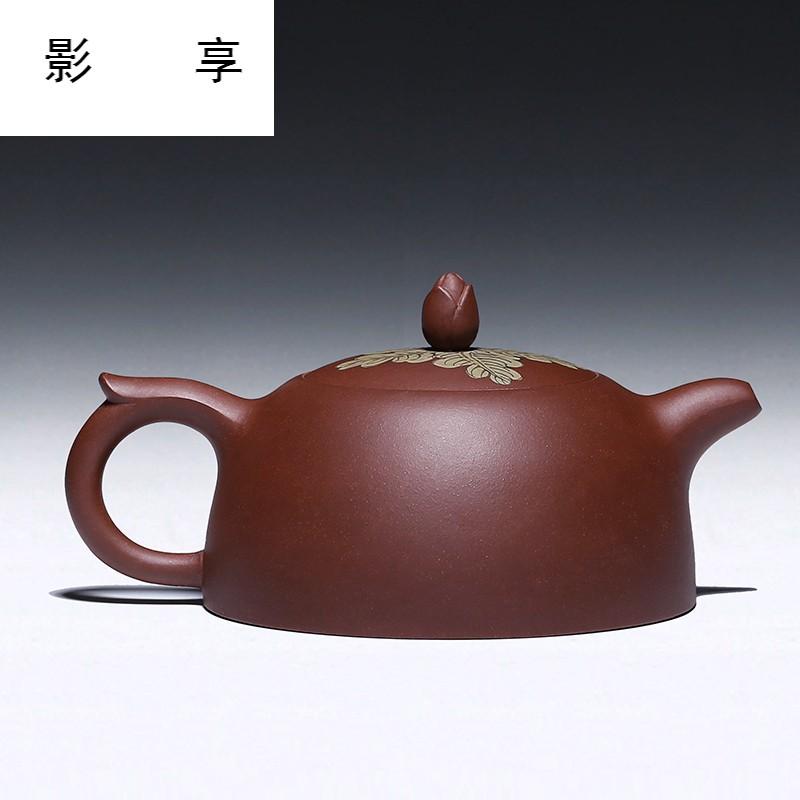 【影享】宜兴正宗原矿紫泥貂蝉拜月功夫紫砂茶壶名家纯全手工茶具