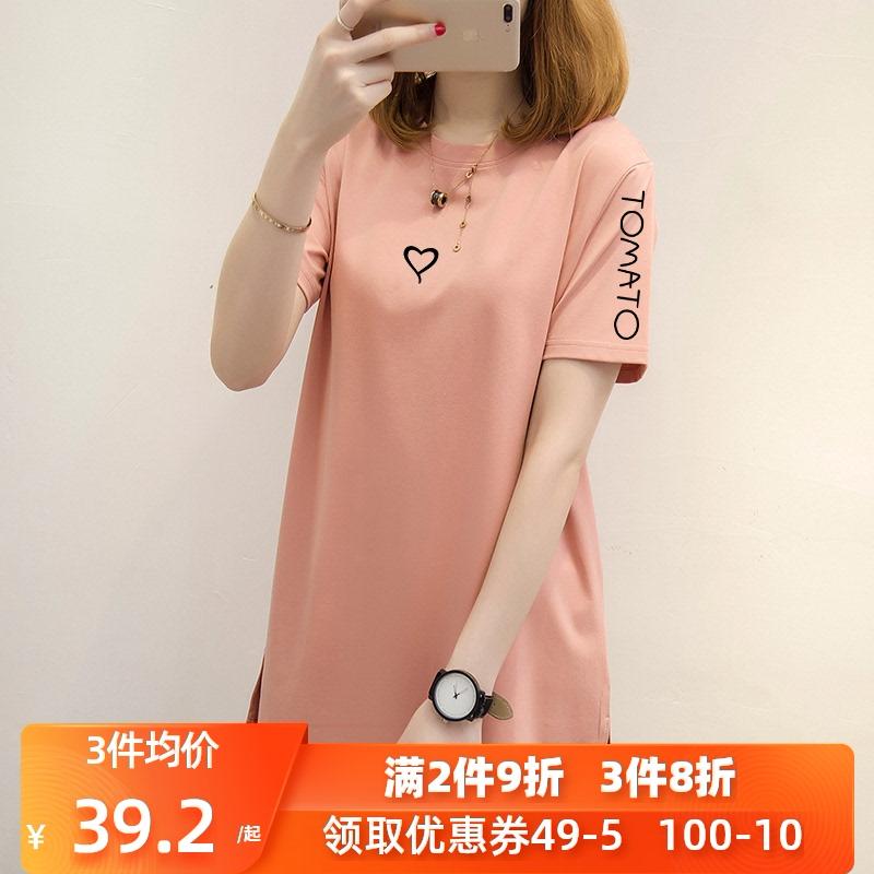 2021新款夏季女装韩版宽松大码t恤