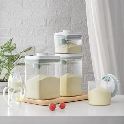 【透明】安扣宝宝奶粉盒外出便携大容量奶粉罐密封罐防潮米粉盒罐