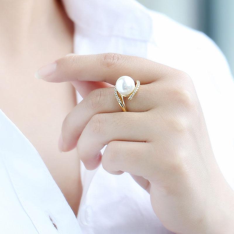 女s925纯银简约时尚个性贝珠潮黄金