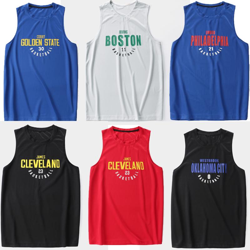 篮球训练背心詹姆斯欧文哈登球衣球星NBA健身速干运动无袖T恤