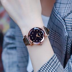 女士手表女网红女款皮带时尚潮流女表星空防水名牌正品水钻时装表