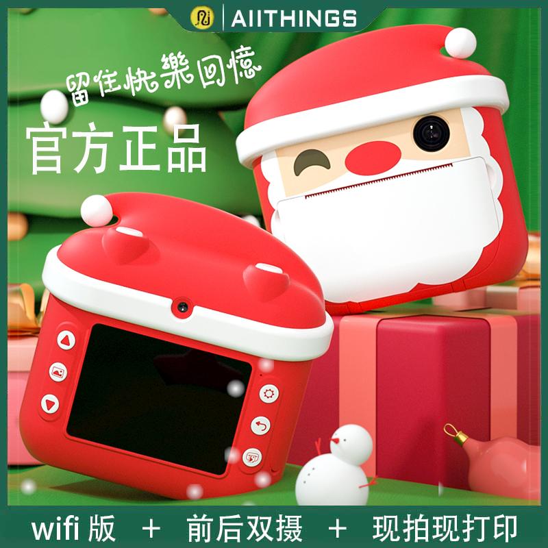 圣诞老人儿童照相机数码玩具可拍照拍...