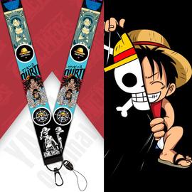 手机挂绳腕带日本动漫海贼王路飞索隆原创织带钥匙扣挂件尼龙飘带