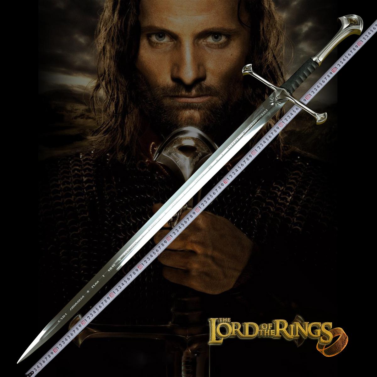 魔戒指环王纳西尔圣剑 经文版阿拉贡剑精灵王魔戒西洋刀未开刃