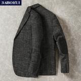 秋季新款休闲西装男上衣韩版时尚潮流复古格子小西服外套男士修身