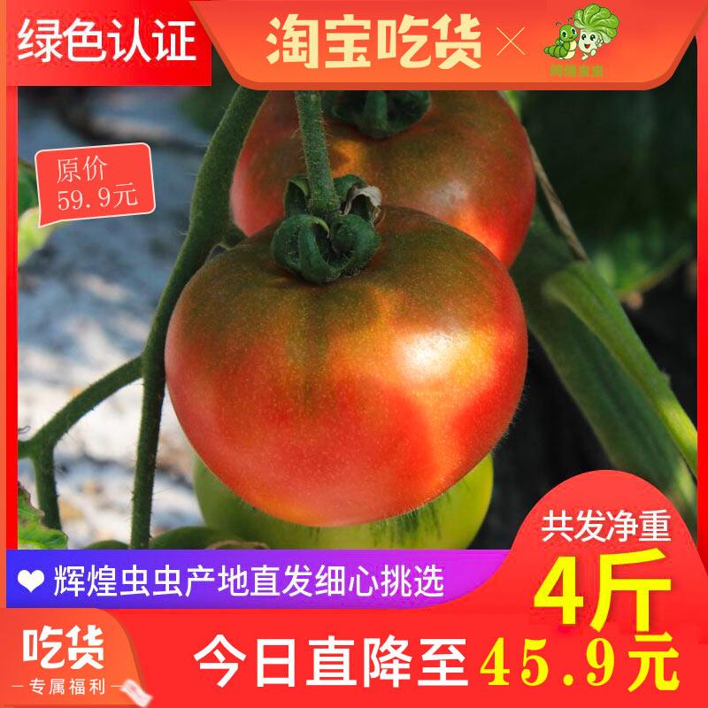 北京草莓西红柿生吃新鲜水果番茄孕妇儿童绿色认证自然熟4斤包邮