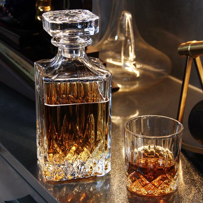 捷克风格创意无铅水晶玻璃威士忌杯