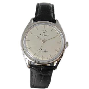 国产钻石表原装库存机械手表复古怀旧手动上弦机械老表男士腕表