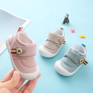 女宝宝学步鞋0-1岁软底防滑不掉春秋婴儿鞋布鞋1-2岁男幼儿鞋子