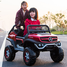 Ultra-large Unimok Children's Electric Vehicle Four-wheel Four-wheel-drive Remote Control Baby Benz Toy Vehicle