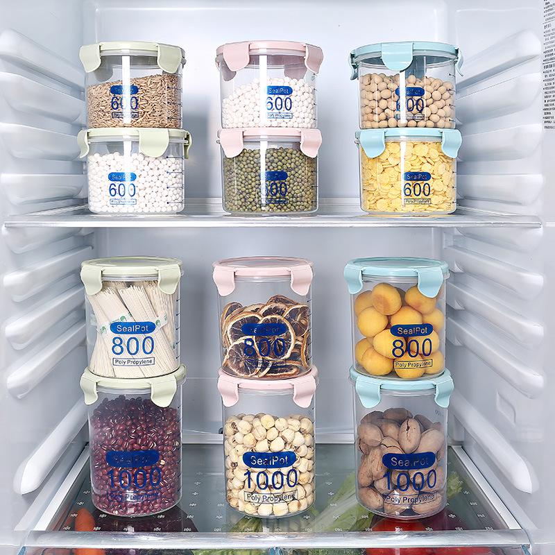 塑料密封罐透明奶粉罐食品罐子廚房五穀雜糧收納盒儲物罐貓家家居