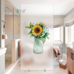 玻璃贴纸贴膜透光不透明防窥窗户遮光北欧浴室客厅移门磨砂隐私膜