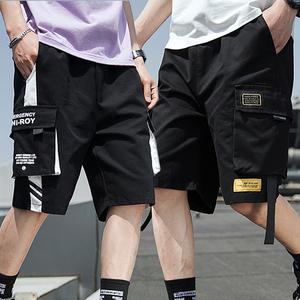 工装短裤男五分裤ins夏季薄款潮流潮牌宽松七分裤男士休闲裤子