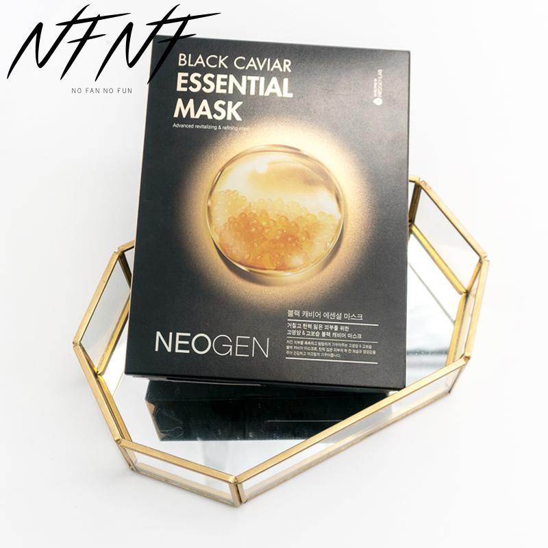 扇子NFNF韩国NEOGEN妮珍鱼子酱面膜抗氧化紧致提亮保湿收缩毛孔
