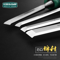 German American Knight Woodworking tools wooden chisel handmade flat chisel carving manganese steel set digging groove flower chisel knife shovel knife