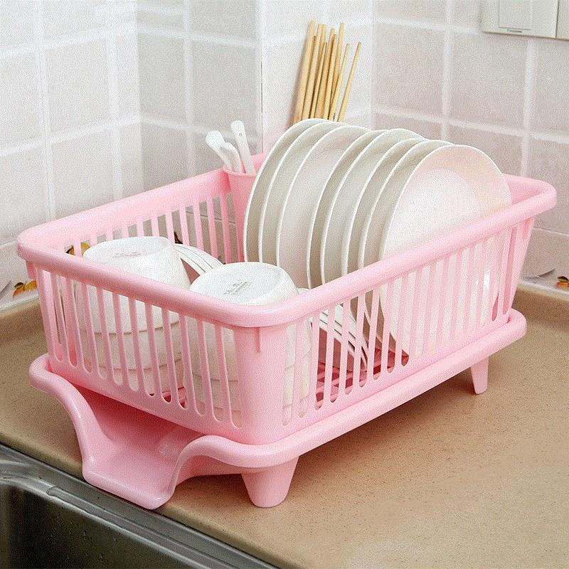 Tableware cage kitchen shelf plastic bowl rack drain bowl trough household bowl box easy multi-functional storage rack household collection