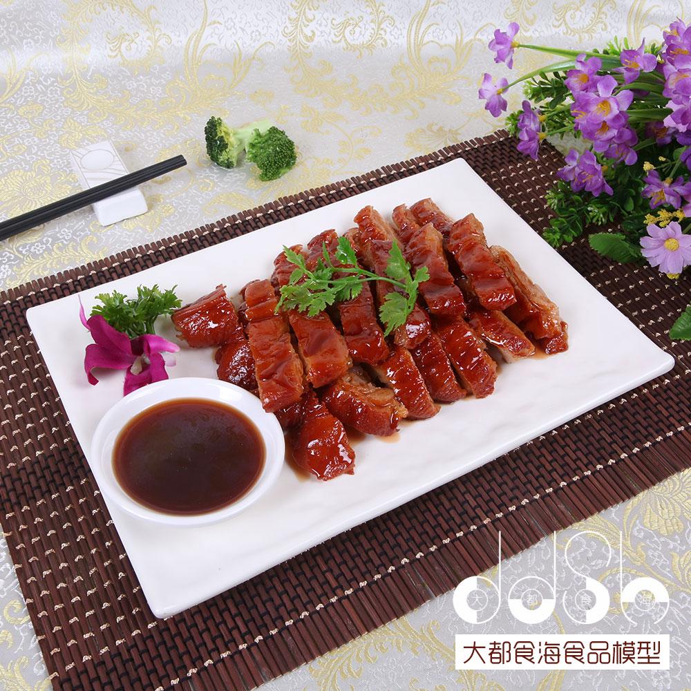 新品中餐假菜广东菜粤菜仿真潮式卤水鹅食物模型广式菜系定做展示