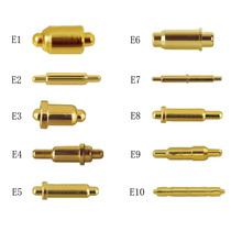 双头弹电源顶针大电流充电连接器导电伸缩铜针pogopin电流探针