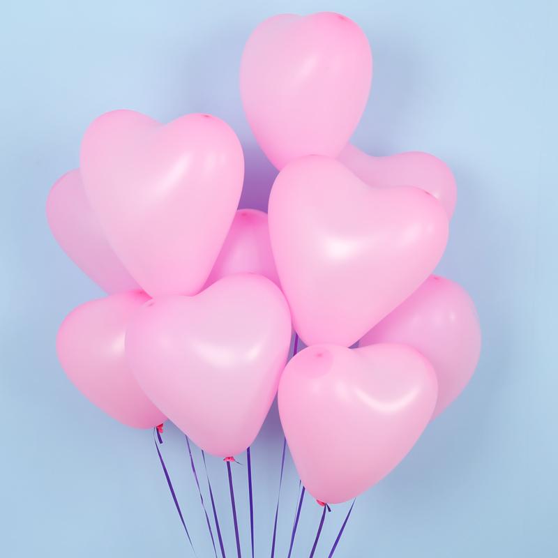 10-29新券心形粉色爱心气球浪漫求婚表白结婚房场景布置婚礼生日派对气球