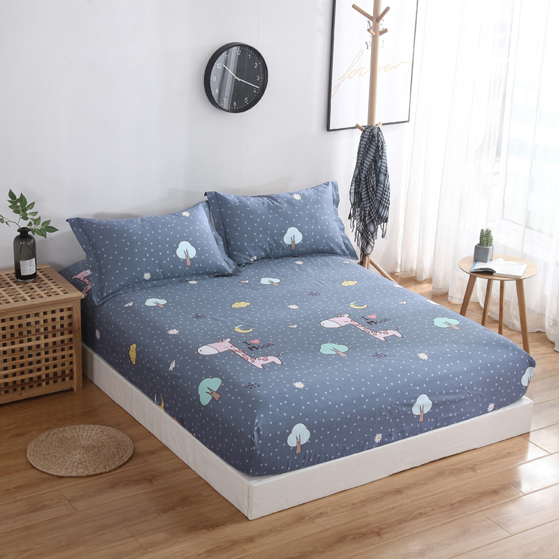 Customized pure cotton fitted sheet, single piece bedspread 90 * 100 * 120 * 135 * 150x190 * 180 * 200 * 220