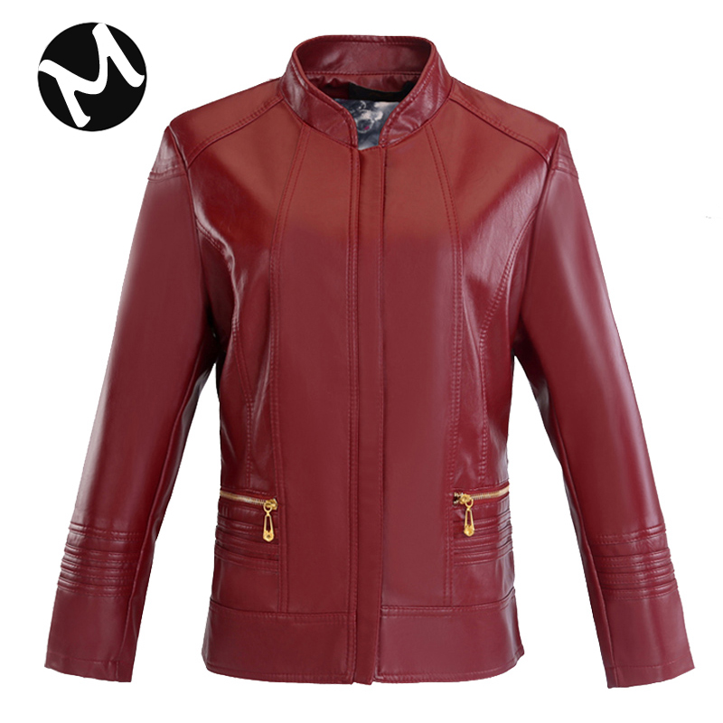 New middle-aged and old womens short leather coat special price leather coat womens PU locomotive leather factory direct sales