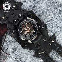 钢铁老爷石英表赛博朋克手表2019新款国产腕表休闲时尚黑科技GT62