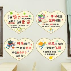 教室班级装饰文化墙贴纸小学黑板报布置创意励志标语鼓励语贴画