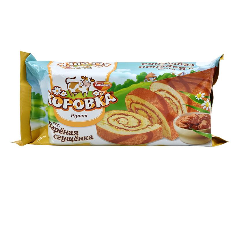 俄罗斯进口夹心蛋糕卷糕点瑞士卷休闲零食品早餐手撕面包吐司正品