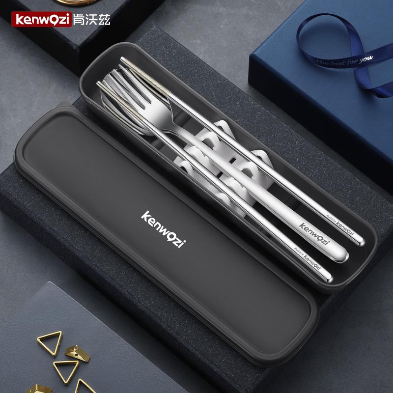 304不锈钢筷子叉套装旅行学生勺子