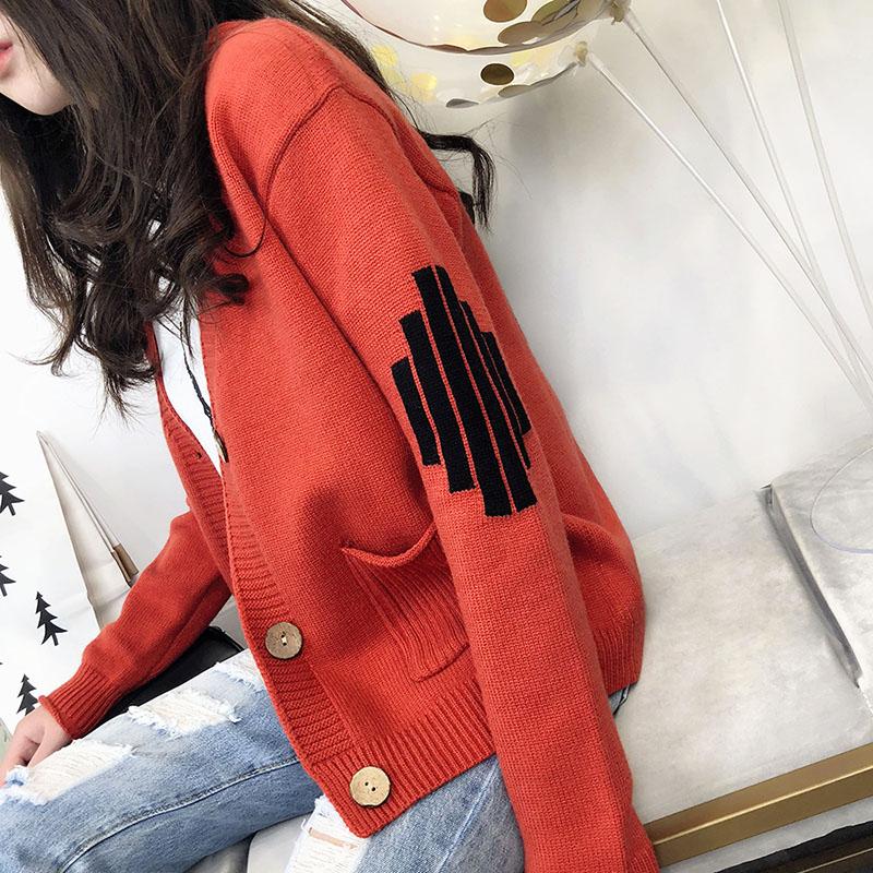 毛衣外套女韩版2018新款秋装女装宽松长袖上衣春秋季短款针织开衫