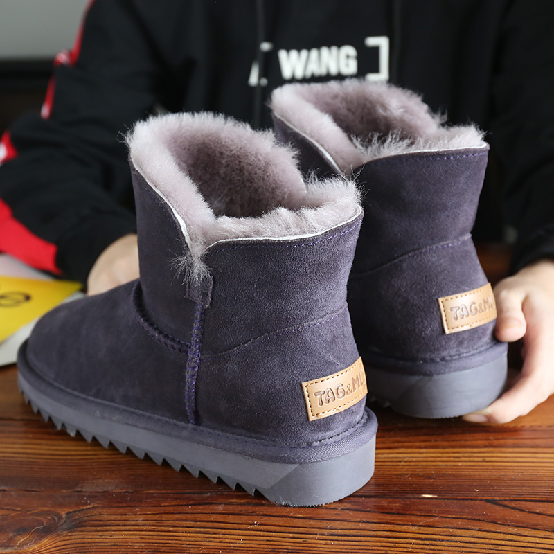Snow boots women 2020 new short tube Korean bread shoes fur integrated cotton shoes warm Plush boots
