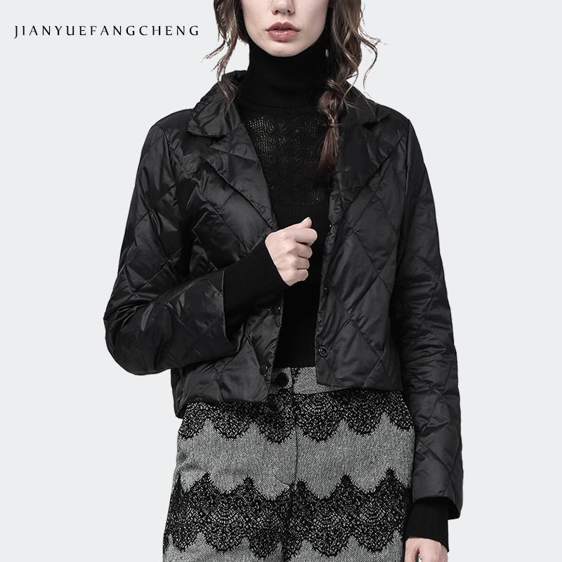 欧洲站冬装羽绒服女短款轻薄款小香风外套棉衣轻便时尚小款羽绒衣