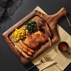牛排餐盘西餐盘牛排盘子意大利面平盘家用意面牛扒盘早餐盘木质
