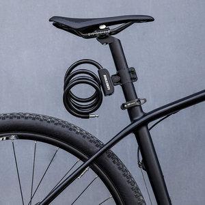 车锁自行车便携式防盗锁固定公路车电瓶车钢缆锁单车配件山地车锁