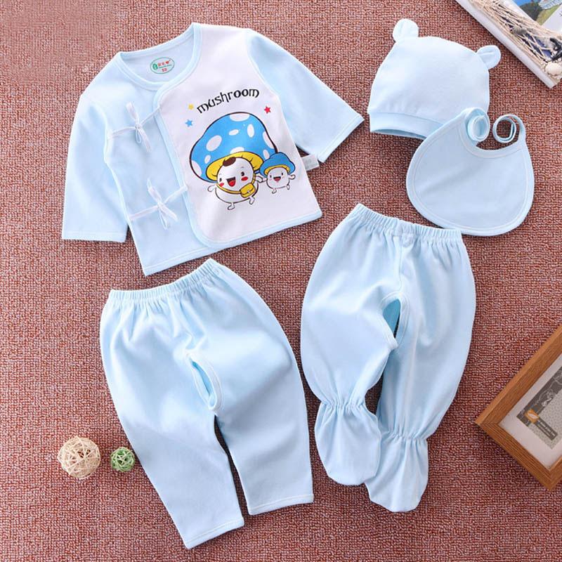 新生儿和尚服秋季内衣五件套0-3个月1宝宝婴儿衣服春秋纯棉初生儿